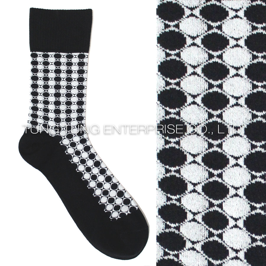 Funslife Loose Top Double Circle Casual Socks