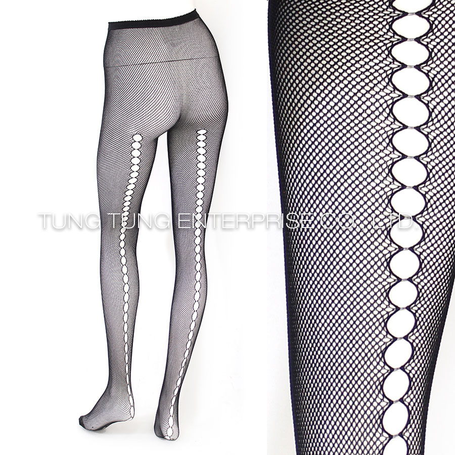 Hollow Out Back Seam Pantyhose Tights