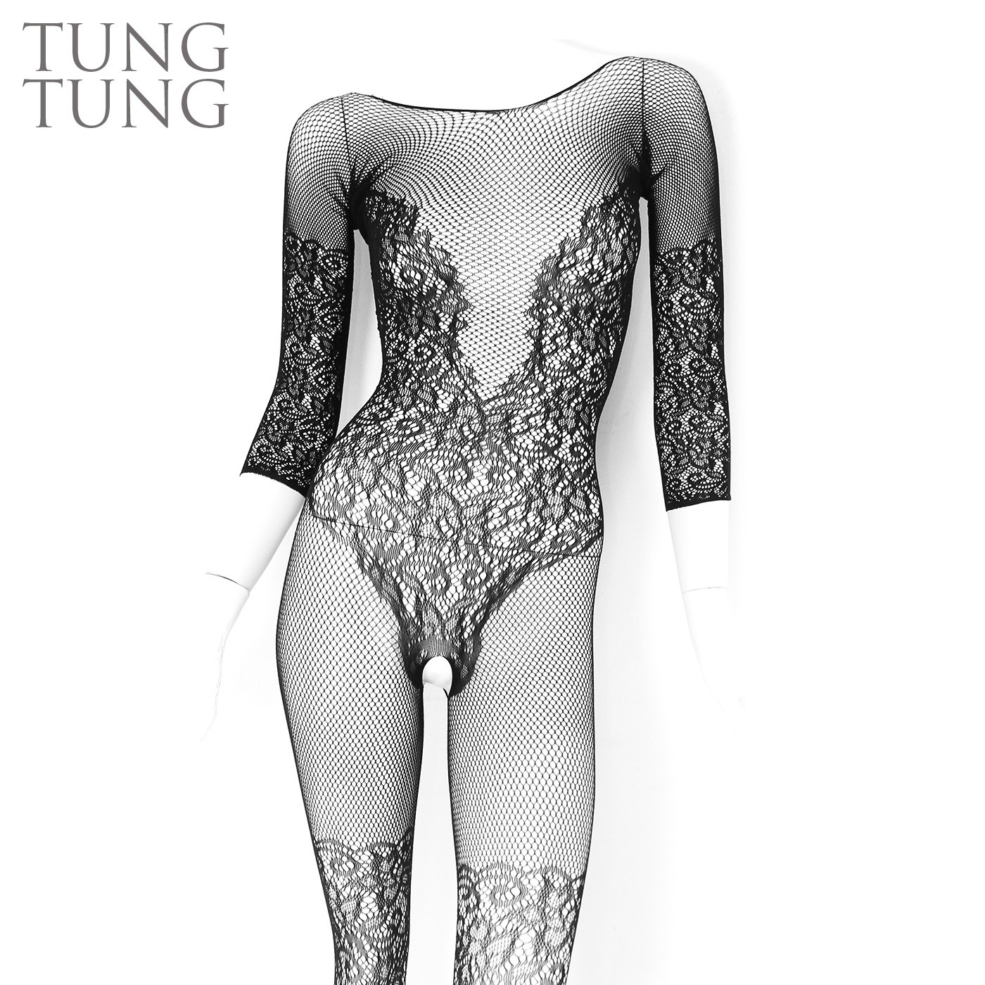 Wisteria Teddy Shape Lace Mesh Bodystockings